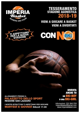 Orari allenamenti Under 18 -  Imperia Basket  Ass.sp.dil.