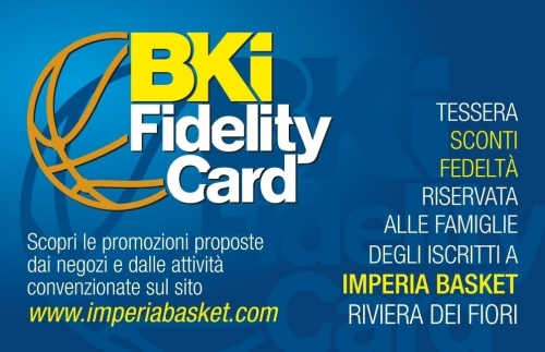 FIDELITY CARD -  Imperia Basket  Ass.sp.dil.